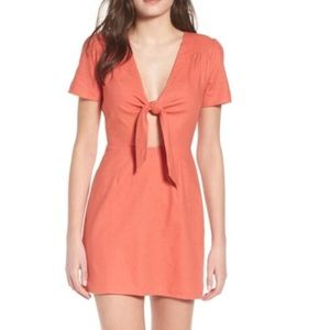 Socialite Front Tie with Cutout Mini Dress
